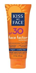 kiss my face factor sunscreen